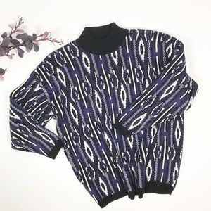 Sweaters - Vintage Oversize Mock Neck Knit Sweater